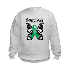 Butterfly Liver Cancer Kids Sweatshirt