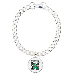 Butterfly Liver Cancer Charm Bracelet, One Charm