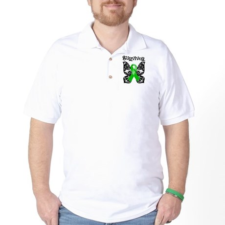 Butterfly Lymphoma Survivor Golf Shirt