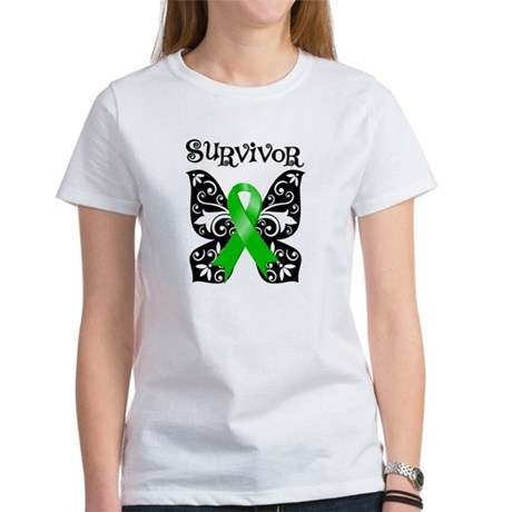 Butterfly Lymphoma Survivor Women's T-Shirt