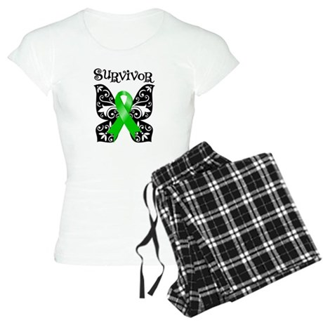 Butterfly Lymphoma Survivor Women's Light Pajamas