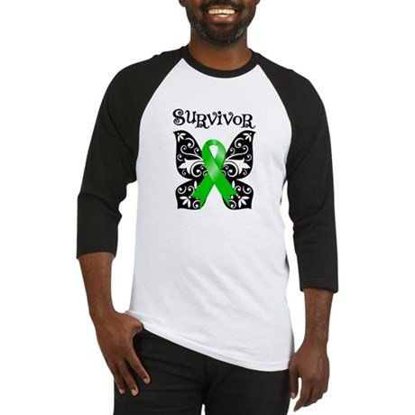 Butterfly Lymphoma Survivor Baseball Jersey