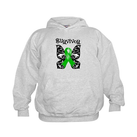 Butterfly Lymphoma Survivor Kids Hoodie