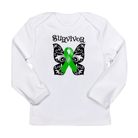 Butterfly Lymphoma Survivor Long Sleeve Infant T-S
