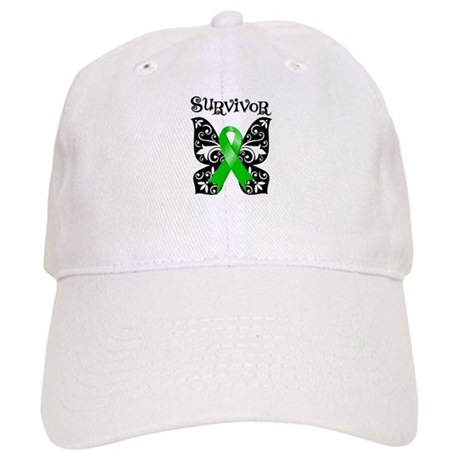 Butterfly Lymphoma Survivor Cap