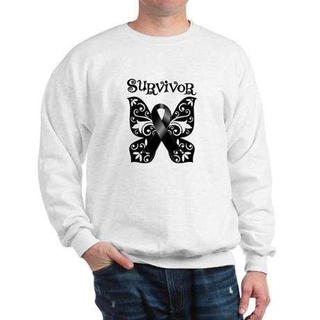 Butterfly Melanoma Survivor Sweatshirt