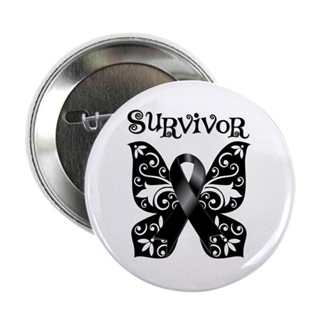 "Butterfly Melanoma Survivor 2.25"" Button (100 pack"