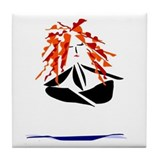 Yoga Peace Tile Coaster