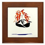 Yoga Peace Framed Tile