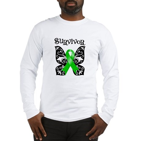 Butterfly Non-Hodgkins Long Sleeve T-Shirt