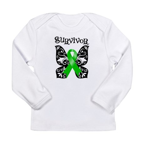 Butterfly Non-Hodgkins Long Sleeve Infant T-Shirt
