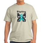 Butterfly Ovarian Cancer Light T-Shirt