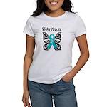 Butterfly Ovarian Cancer Women's T-Shirt