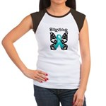 Butterfly Ovarian Cancer Women's Cap Sleeve T-Shir
