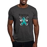 Butterfly Ovarian Cancer Dark T-Shirt