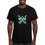 Butterfly Ovarian Cancer Men's Fitted T-Shirt (dar