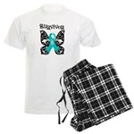 Butterfly Ovarian Cancer Men's Light Pajamas