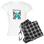 Butterfly Ovarian Cancer Women's Light Pajamas