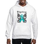 Butterfly Ovarian Cancer Hooded Sweatshirt