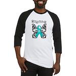 Butterfly Ovarian Cancer Baseball Jersey