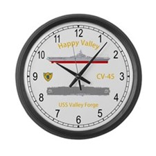 USS Valley Forge CV-45 Large Wall Clock