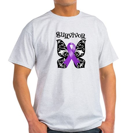 Butterfly Pancreatic Cancer Light T-Shirt