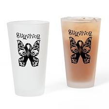 Butterfly Melanoma Survivor Pint Glass