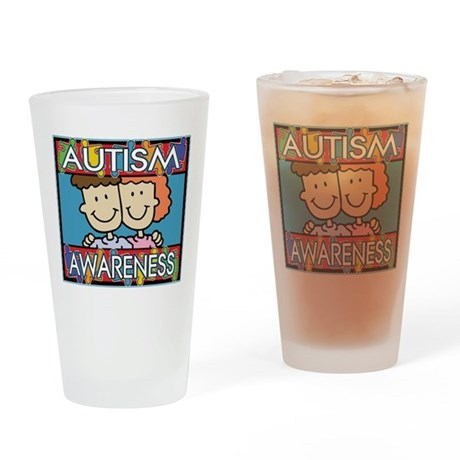 Cute Autism Awareness Pint Glass