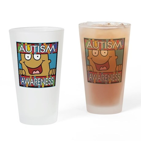Smile Autism Awareness Pint Glass