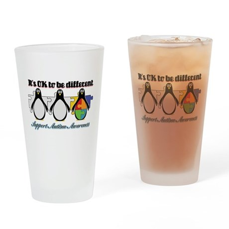Okay To Be Different Autism Pint Glass