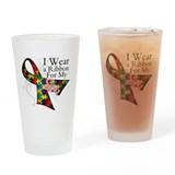 For My Son Autism Ribbon Pint Glass