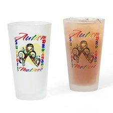 Autism Awareness Ribbon Pint Glass