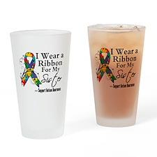 Sister - Autism Ribbon Pint Glass