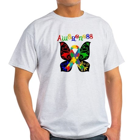 Butterfly Autism Awareness Light T-Shirt