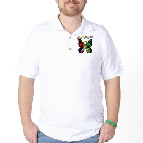 Butterfly Autism Awareness Golf Shirt