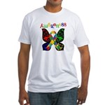 Butterfly Autism Awareness Fitted T-Shirt