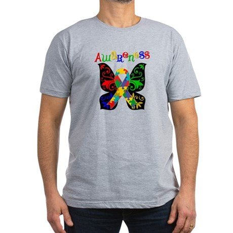 Butterfly Autism Awareness Men's Fitted T-Shirt (d
