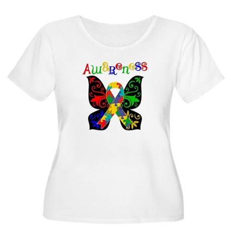 Butterfly Autism Awareness Women's Plus Size Scoop