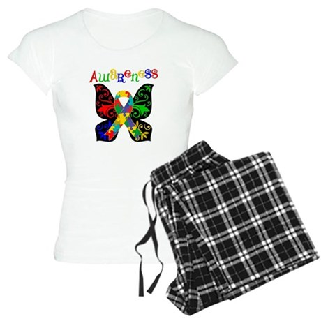 Butterfly Autism Awareness Women's Light Pajamas