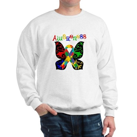 Butterfly Autism Awareness Sweatshirt
