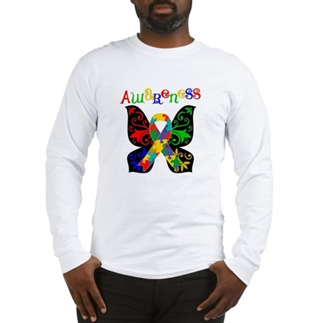 Butterfly Autism Awareness Long Sleeve T-Shirt