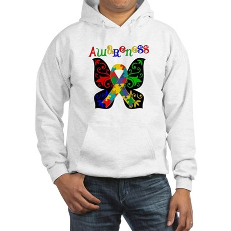 Butterfly Autism Awareness Hooded Sweatshirt