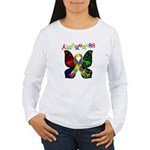 Butterfly Autism Awareness Women's Long Sleeve T-S