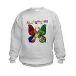 Butterfly Autism Awareness Kids Sweatshirt