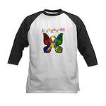 Butterfly Autism Awareness Kids Baseball Jersey