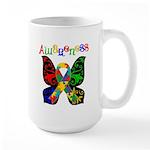 Butterfly Autism Awareness Large Mug
