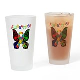 Butterfly Autism Awareness Pint Glass
