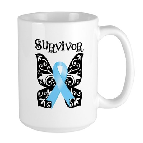 Butterfly Prostate Cancer Large Mug
