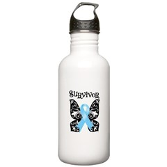 Butterfly Prostate Cancer Stainless Water Bottle 1