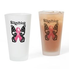 Butterfly Breast Cancer Pint Glass